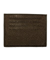 card holder in shagreen brown verso