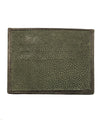 green card holder shagreen verso