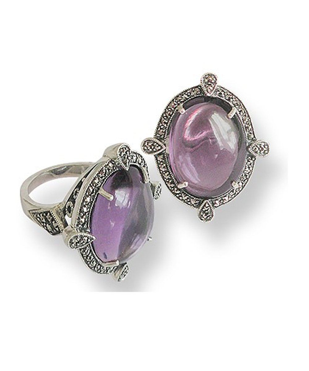 Grosse-ring amethyst-art deco