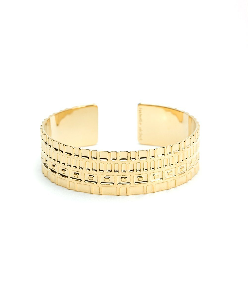Gilded Broad Bangle Bracelet - Isabelle Michel