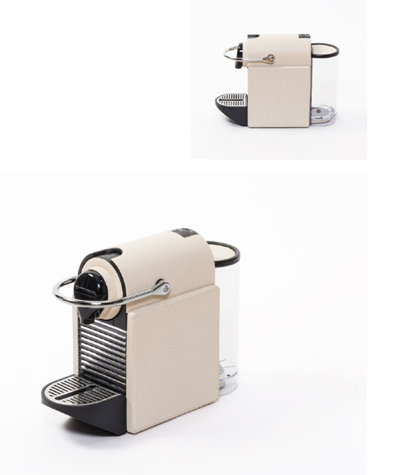 Machine à café en cuir sur mesure Pixie