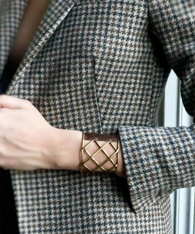 Arisztid Szendy cuff-bronze-trellis-brown scope
