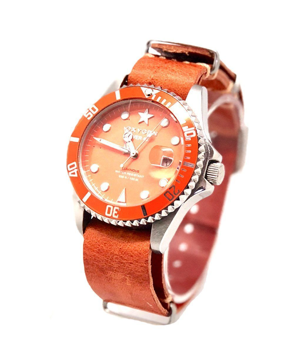 Exchange Diver Watch Sea Star 40 Leather Strap - oxygen watch