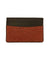 Brick orange shagreen card holder - Galerie Galuchat