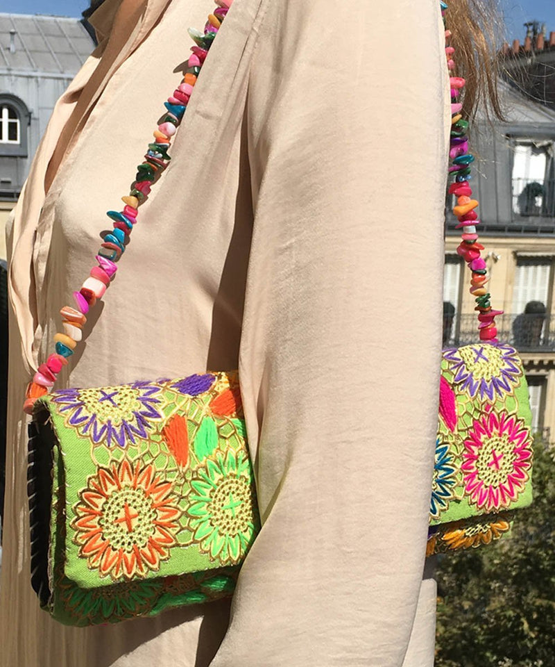 Embroidered baguette bag - El Jenna