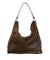 brown shearling bag