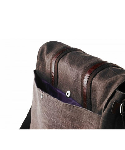 Large brown business man backpack