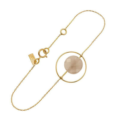 paola zovar gold moonstone chocolate bracelet