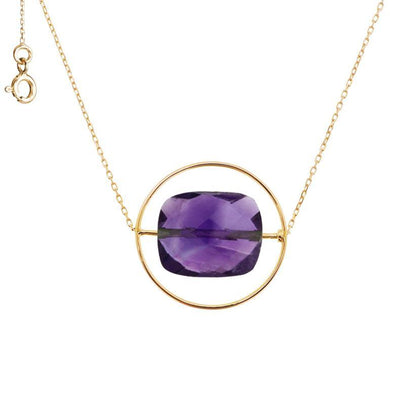 paola zovar necklace gold amethyst stone