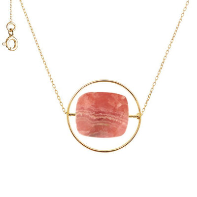 paola zovar collier or pierre rhodochrosite