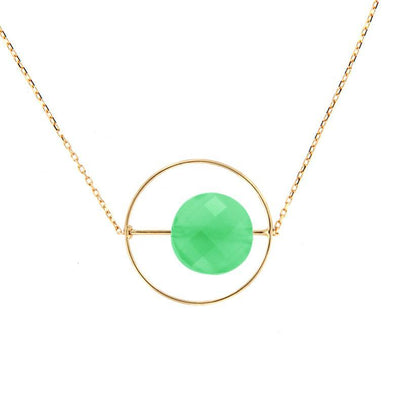 paola zovar collier or Pierre chrysoprase