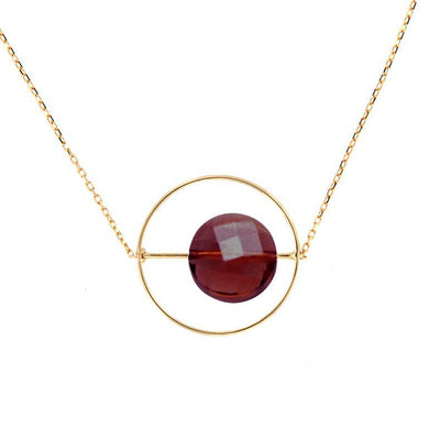 paola zovar gold garnet necklace