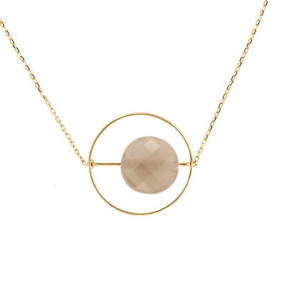 paola zovar gold moonstone chocolate necklace