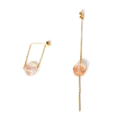 paola zovar gold earring sunstone