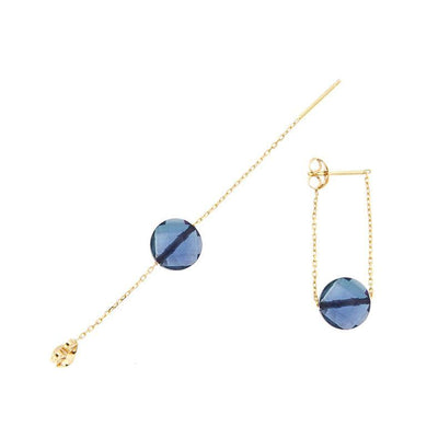 paola zovar boucle d'oreille or pierre topaze Blue London