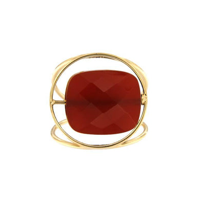 paola zovar bague or Pierre onyx rouge