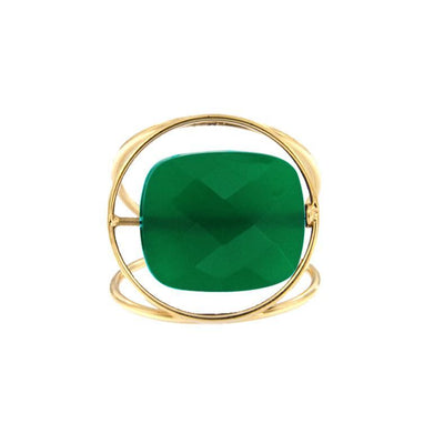 paola zovar bague or Pierre onyx vert