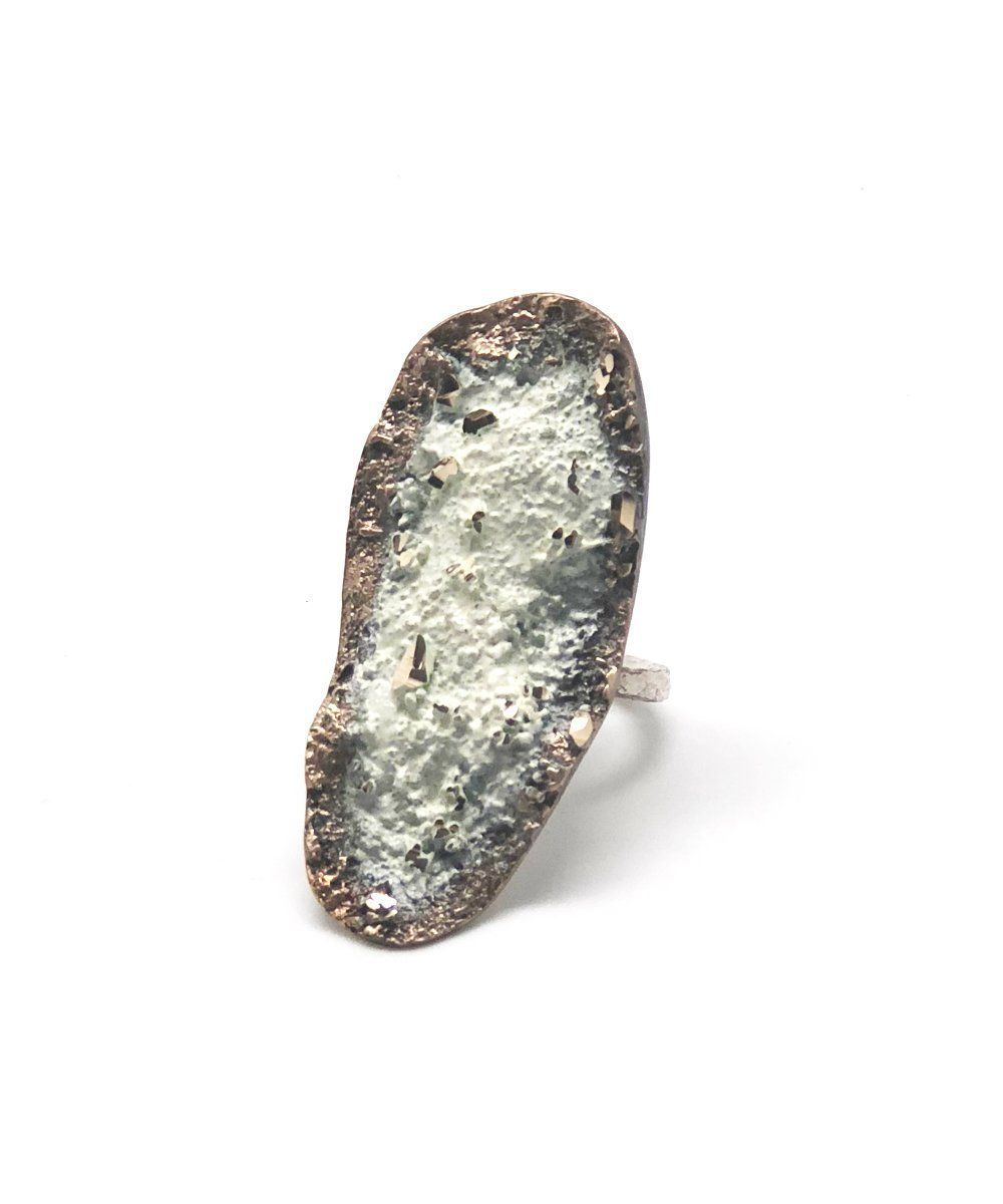 White bronze ring - Tina Kotsoni