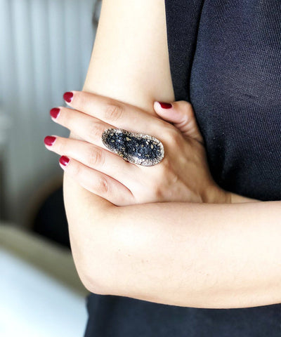 Creative Black Bronze Ring Ring