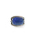 Lapis lazuli art deco oval ring in silver 925 and marcasites