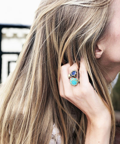 Turquoise and lapis ring, You and Me Cancun Boks & baum 1