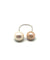 ring you and me white cultured pearls Editions LESSisRARE Pearls