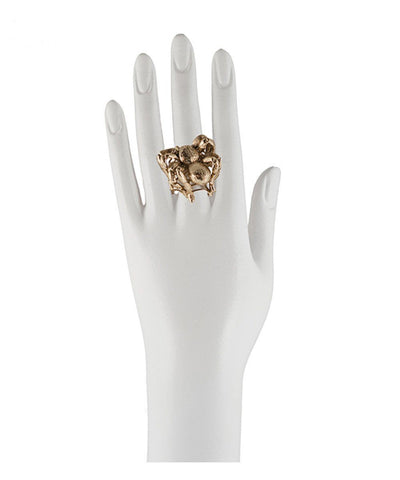 Mounted bronze spider ring 2
