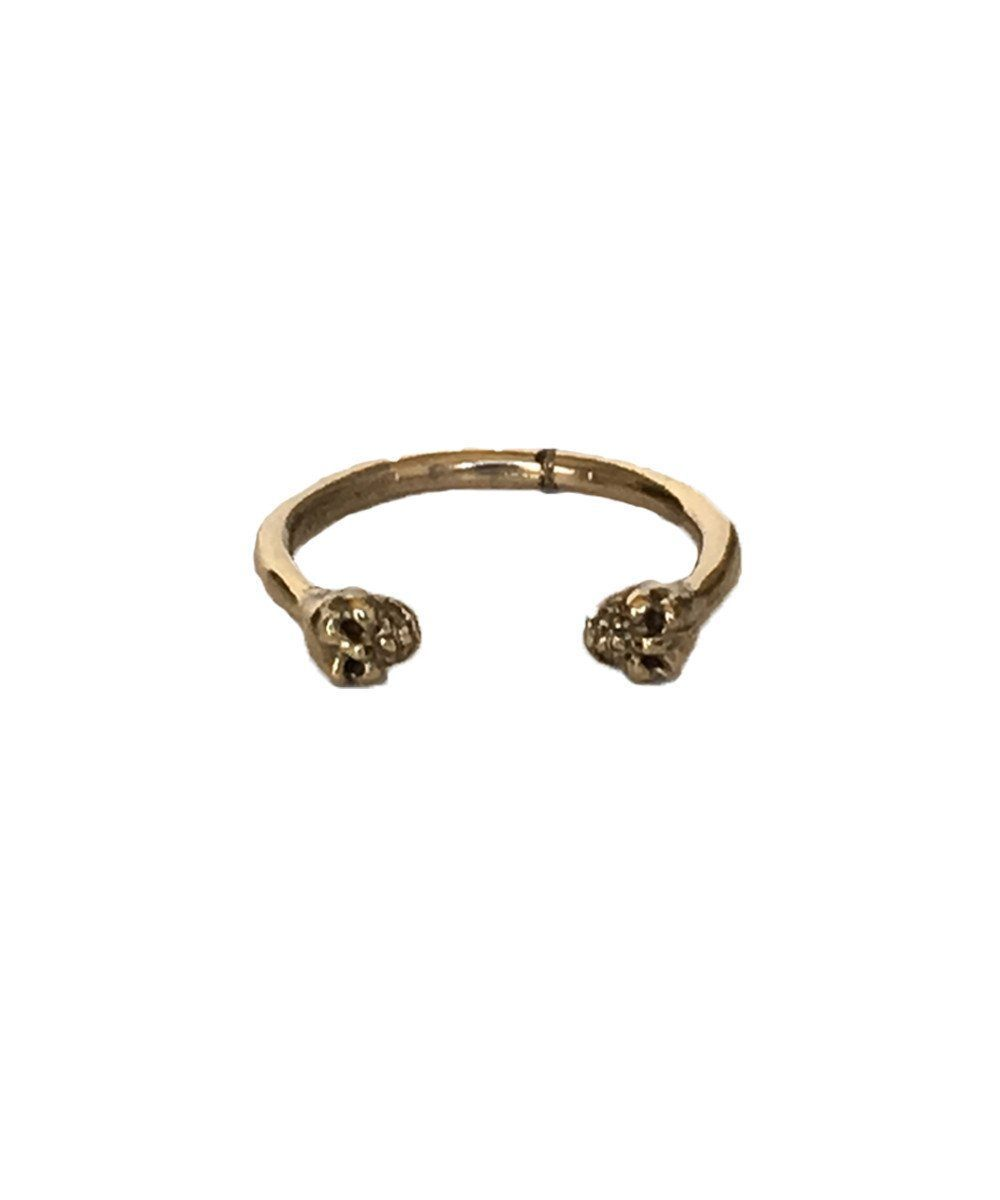 Open Ring Skulls in Creative Bronze