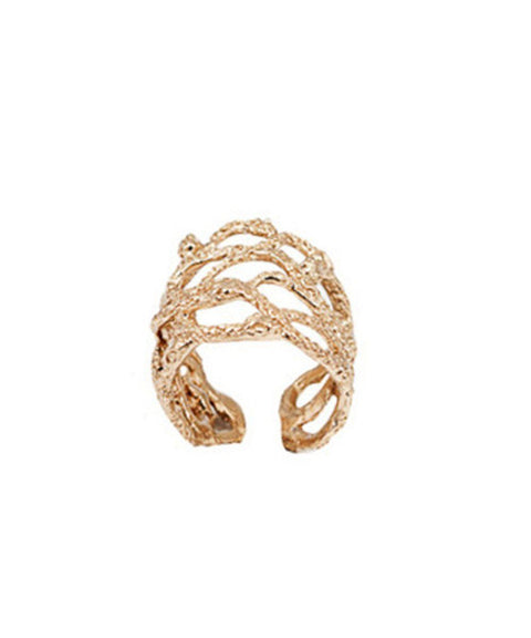 bernard-delettrez-bague-bronze-serpents-enlaces