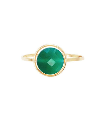 Paola zovar green agate ring My little gold and stone