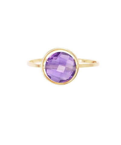 Amethyst ring My little gold Paola Zovar