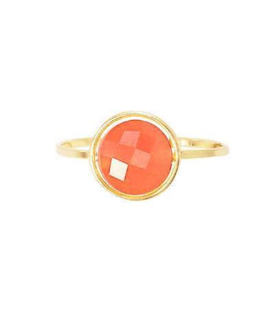 Carnelian ring Paola zovar My little gold