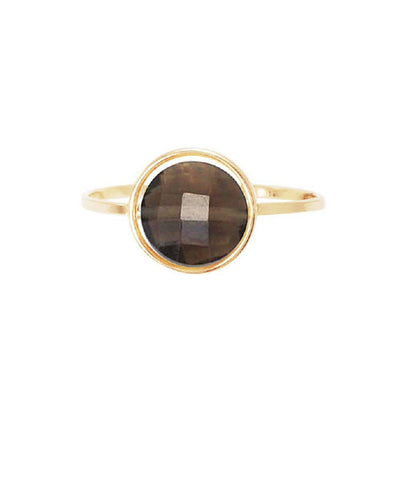 Smoky quartz ring by the designer Paola zovar My little gold