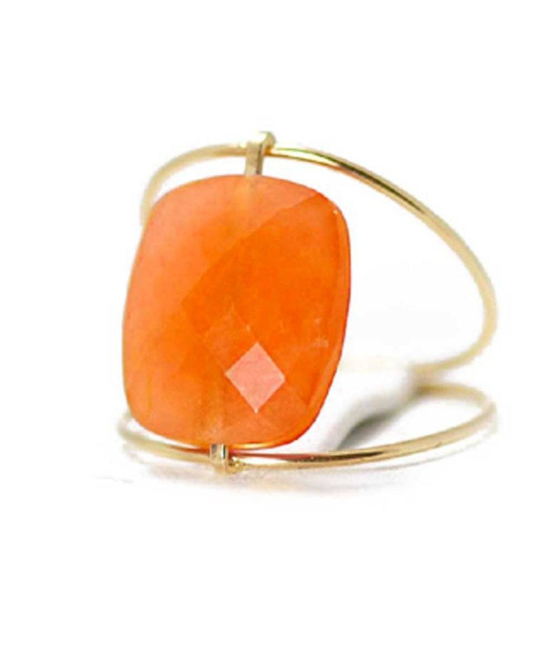 Green agate ring paola zovar Creative gold independence