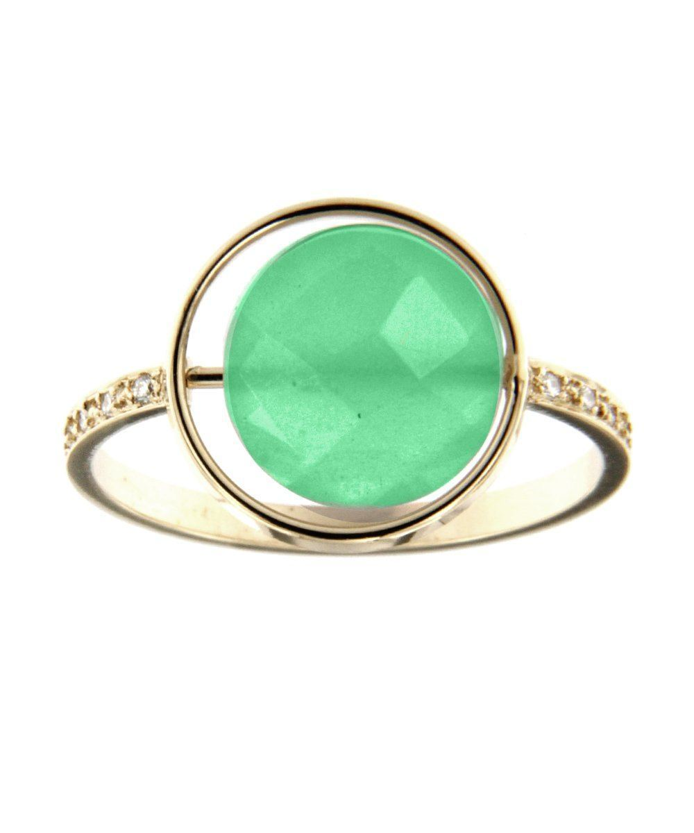 Chrysolase ring Paola zovar Small look set with diamonds - Cat 2