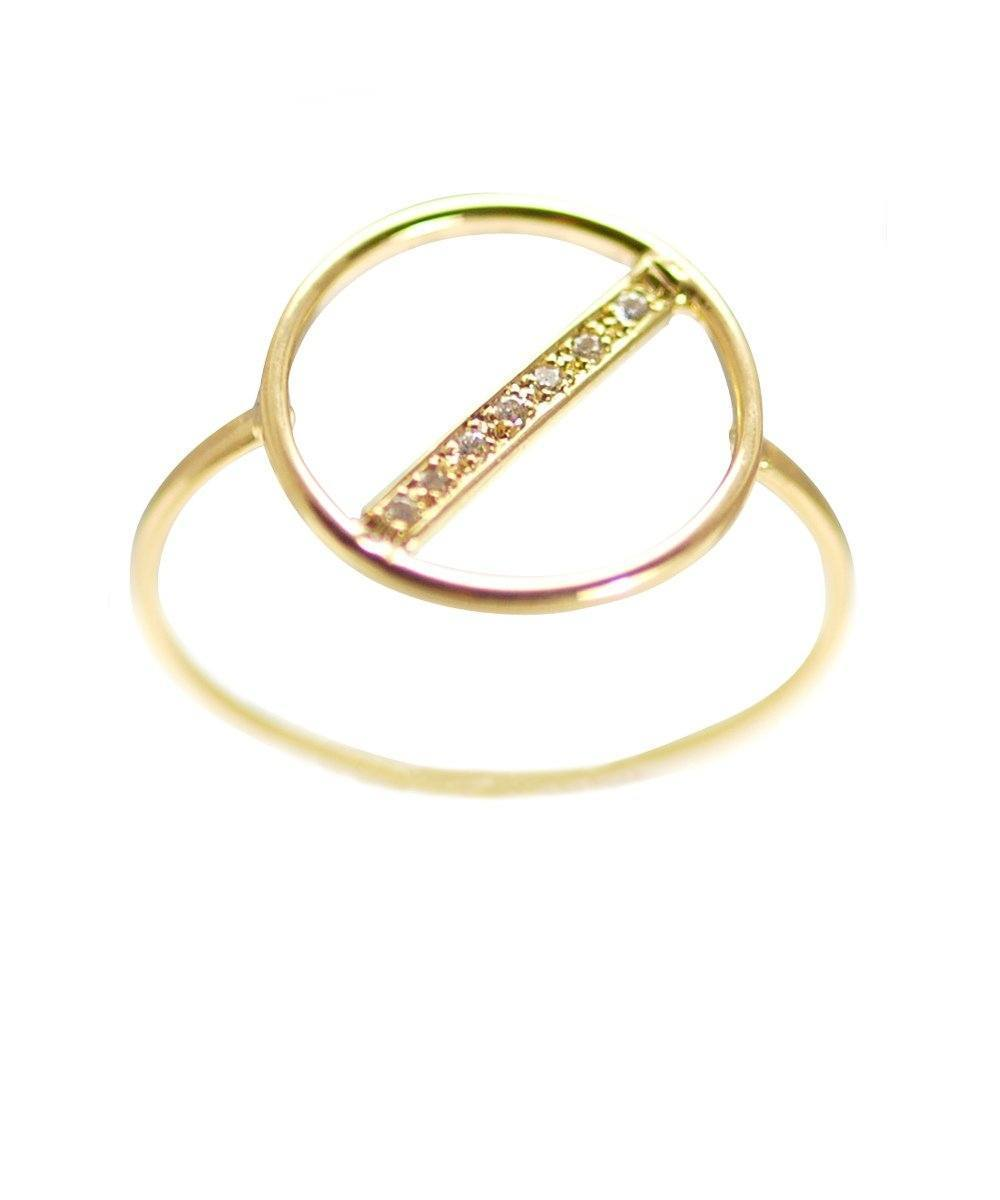 Small Diamond Watch ring in gold designer paola Zovar