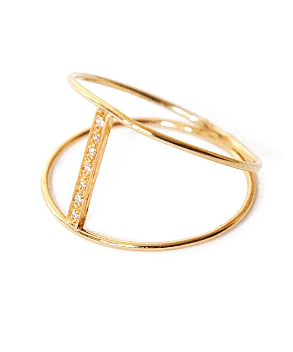 Independence ring gold diamond designer paola zovar