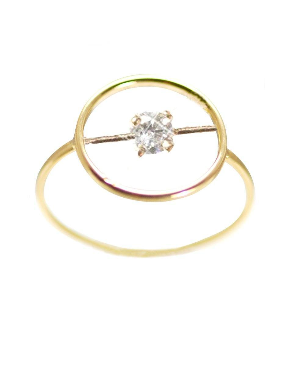 One diamond ring 0,15 ct designer Paola zovar