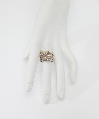 Zangara five-ring-diamond-gold-silver