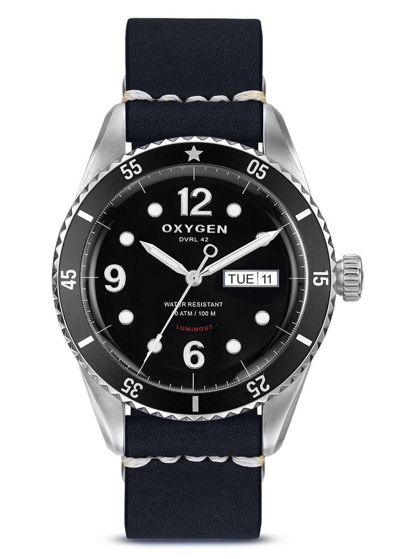 Automatic Diver 42 Moon Leather Strap - Oxygen Legend