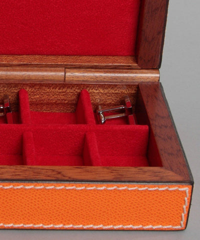 1 bhome designer leather and wood ring box