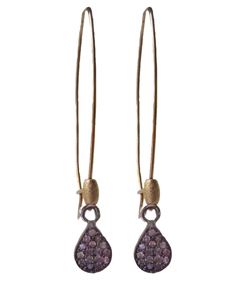 Catherine Michiels Earrings Burdigala gold diamond pendant creator