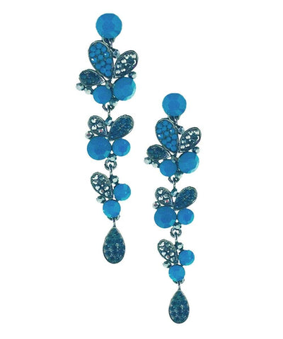 Earrings blue clusters Editions LESSisRARE Bijoux