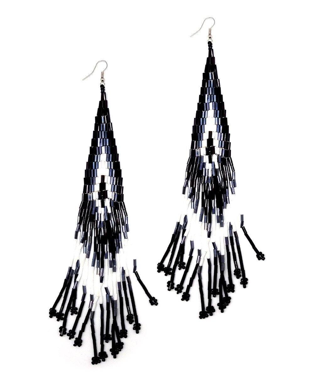 Black Indian Earrings Editions LESSisRARE Bijoux