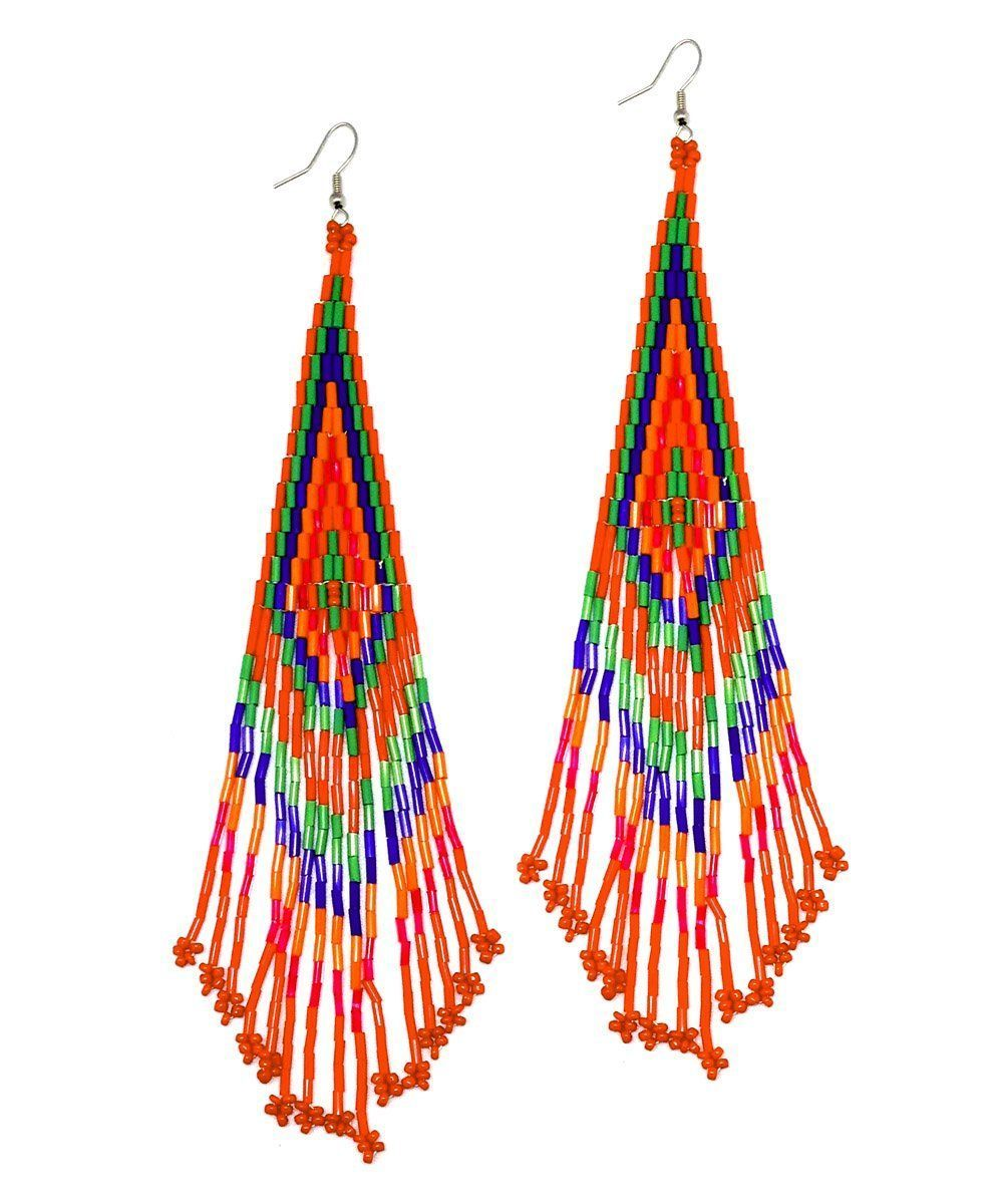 Indian indian earrings - LESSisRARE Editions Jewels