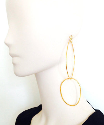 "Golden duo hoop earrings - ""Over the water"" eloise fiorentino worn 1"