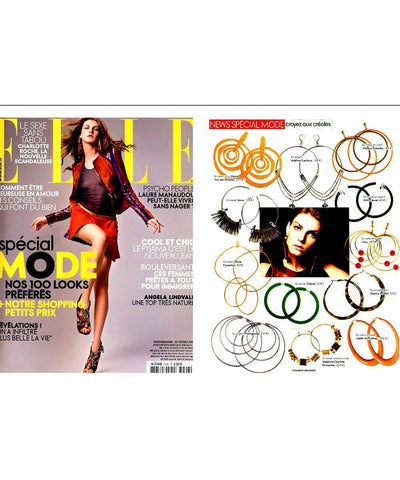 "Golden duo hoop earrings - ""Over the water"" eloise fiorentino press"