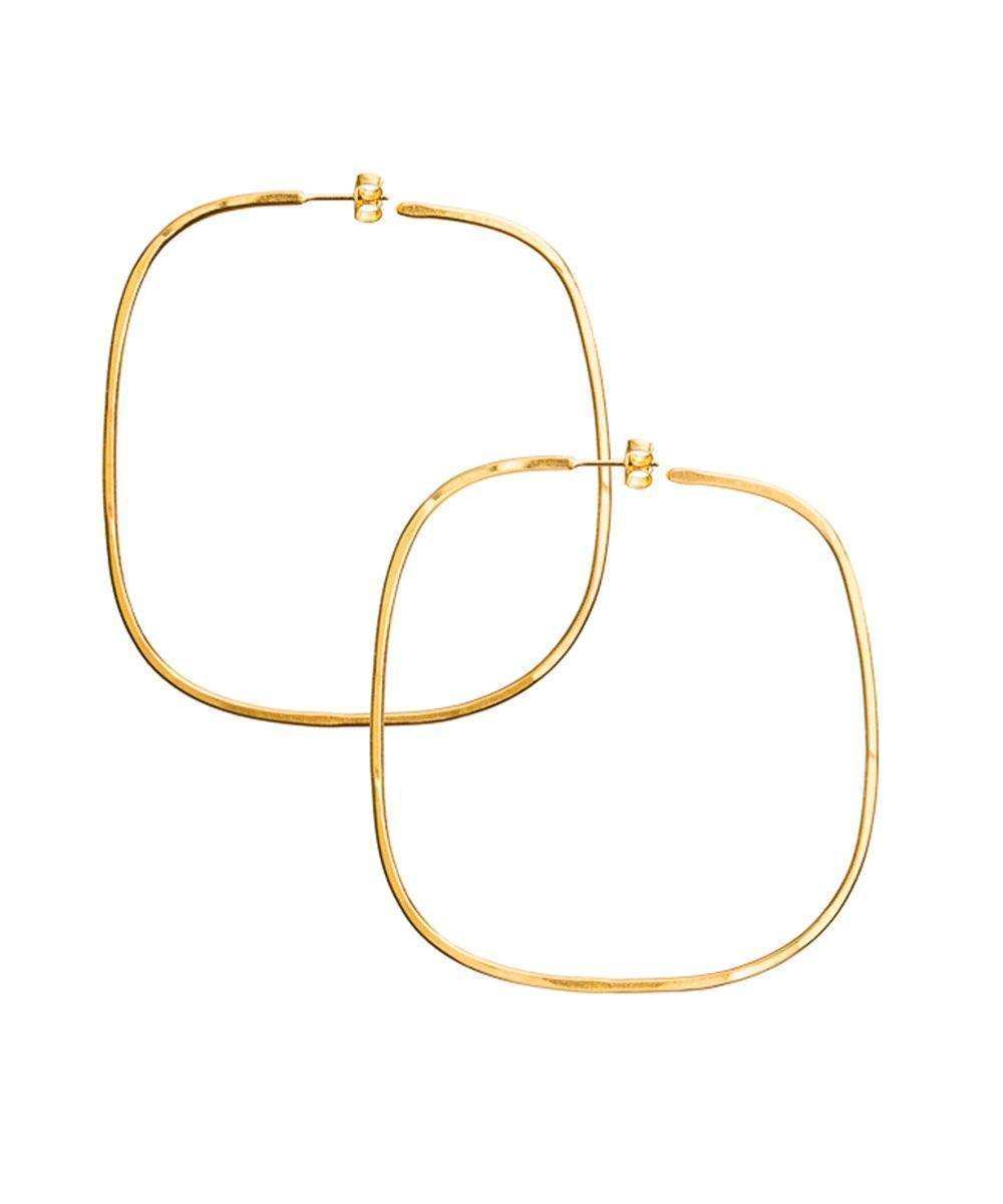 "Golden square hoop earrings - ""Over the water"" - Eloïse Fiorentino"