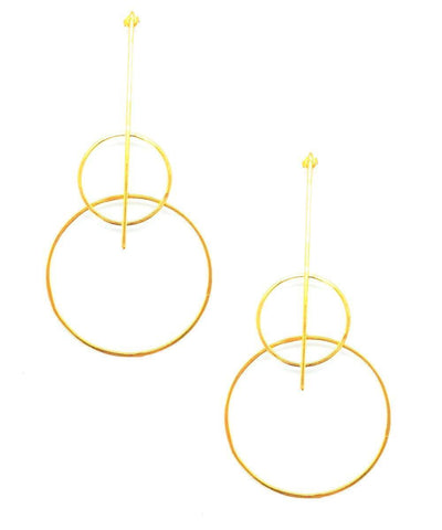 "Earrings duo of golden rings - ""Constellations"" eloise fiorentino"