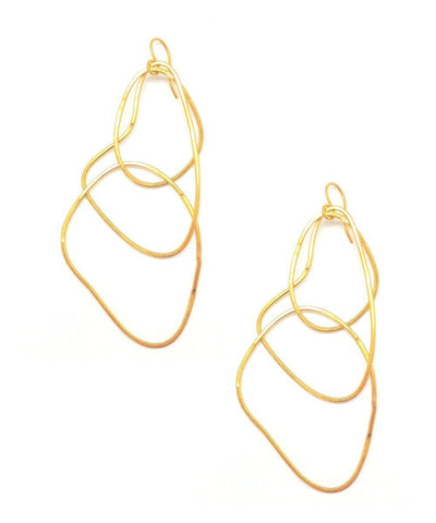 "Trio earrings with golden rings - ""Mirages"" eloïse fiorentino"